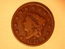 1827 CORONET TYPE LARGE CENT  <> VG <> -727
