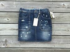 $69 nwt Guess denim jean skirt accent wash side zipper straight pencil size 24