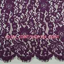"""HB159 Lace Fabric Trim Retro Embroidery Floral Wedding Fabric Sewing DIY 59*59"""""""