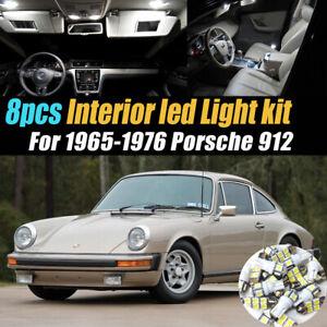 8Pc Super White Car Interior LED Light Bulb Kit for 1965-1976 Porsche 912