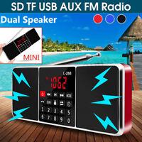 Mini Portable FM Radio Stereo MP3 Player USB AUX Disk Micro SD/TF Speaker   !