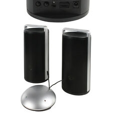 100m Wireless 3.5mm Cordless HiFi Active Stereo Speakers - Bass Boost