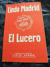 Partition Lindo Madrid El Lucero Yvette Horner 1965 Music Sheet