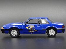 1992 Ford Mustang MICHIGAN STATE POLICE RARE 1/64  COLLECTIBLE DIORAMA MODEL CAR