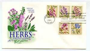 4513-17 Herbs coil on one, ArtCraft FDC