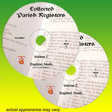 Registres paroissiaux Angleterre Sur 2x DVD Genealogy Records, sur 660 registres