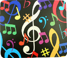 G Clef and Musical Color Notes Mouse Pad Mousepad
