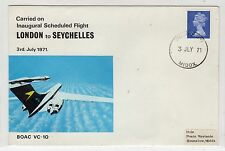 GB: 1971 FIRST FLIGHT COVER FROM LONDON TO SEYCHELLES (C22532)