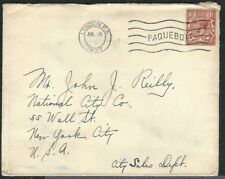 Great Britain (Uk) Stamps 161 1½ d Brown Kgv Cover Paquebot to Ny 15Jul1927