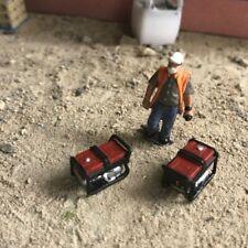 2X 1:76 scale/ 00 Gauge 3d resin Printed portable generators (red)