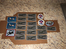 22 Vintage Military Patch Lot SR-71 B-1 Bomber Thunderbirds C-130 B-25A Grouping