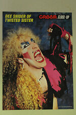 TWISTED SISTER Dee Snider Full Page Pinup magazine clipping nice early pic