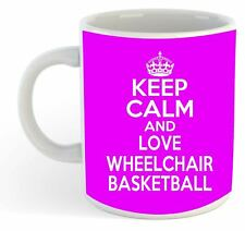 KEEP CALM E LOVE sedie a rotelle BASKET Mug - Rosa