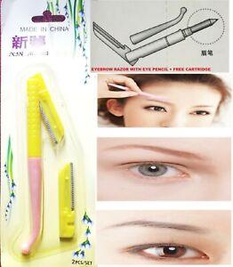 2 in1 Eyebrow Razor + eyeliner Shaper Trimmer Shaver Facial SafETY Hair Remover