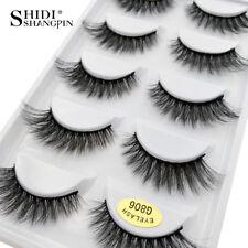 Pack of 5 3D Mink False Eyelashes Wispy Cross Long Thick Soft Fake Eye Lashes