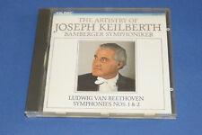 "CD BEETHOVEN ""SYMPHONIES 1 & 2"" JOSEPH KEILBERTH, ORCH. BAMBERG / TELDEC TB ETAT"
