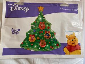 "XL Disney Winnie the Pooh Christmas Tree Balloon 31"" SuperShape Tigger Eeyore"