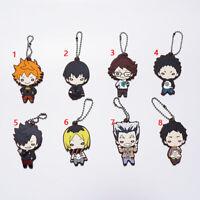 Anime Haikyuu!!  rubber Keychain Key Ring Race Straps cosplay