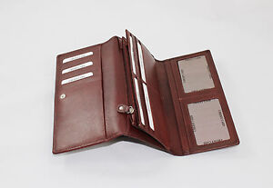 Portafogli Donna in Vera Pelle Porta carte Porta monete Zip interna/esterna