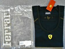 Ferrari Vintage Ladies Cotton Top Tee Shirt Black Size 4 Only New in Pack