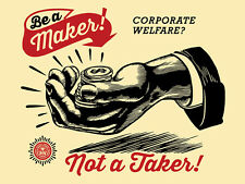 Shepard Fairey - Corporate Welfare -  Obey Giant - Signed and Numbered