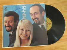 PETER (Yarrow), PAUL and MARY signed A SONG WILL RISE 1965 Record / Album COA