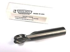 "WELDON Carbide End Mill 7/16"" 2FL 7/16"" x 9/16"" x 2-1/2"" 2AR1409"