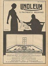 Y0518 LINOLEUM il pavimento moderno - Pubblicità d'epoca - Advertising