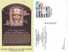 Jack Morris 2018 Hall of Fame Program/Induction postcard Stamped