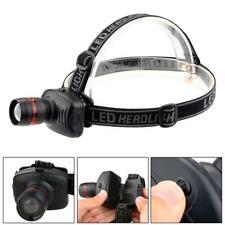 20000LM Mini LED Headlight Adjustable Angle Head Band Torch 3 AAA Battery USA IR