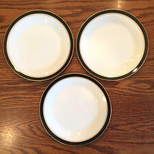 3 Vint NORITAKE CHINA IVORY AND EBONY SALAD PLATES~MORE AVAIL~7274 BLACK GOLD