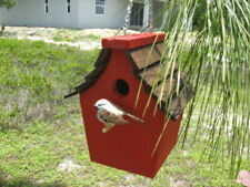 Rustic hanging Birdhouse for Wren, Chickadees and Finch
