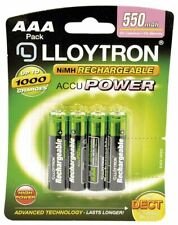 4 x AAA HOME PHONE DECT LLOYTRON RECHARGEABLE BATTERIES