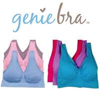 NEW! 3pc GENIE BRA!  - Pastel & Bright Colors - Pink Purple Blue - S M L XL 2XL