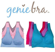 NEW! 3pc GENIE BRA!  - Pastel & Bright Colors - Pink Purple Blue - S M L XL 2XL