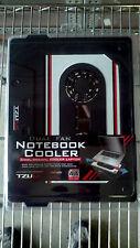 TZUMI Dual Fan USB Powered Notebook Cooler Black cassette tape shape 13x10 inch