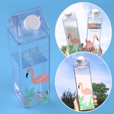 Flamingos Cartoon Water Cup 500ml Fantasy Summer Milk Box Drink Bottle Birthday