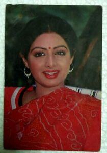 INDIA RARE PICTURE POSTCARD SRI DEVI ACTRESS ORIGINAL  BOLLYWOOD # 9