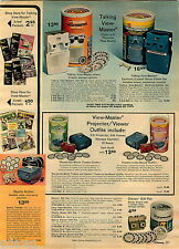 1972 ADVERT 2 Page GAF Talking Viewmaster Stereo Viewer Disney Children Classics