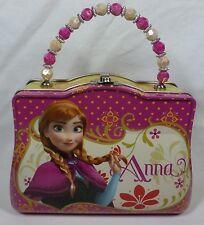 Disney Frozen Anna Tin Purse Lunchbox + Bonus Sticker Book - New