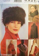 Miss Vogue 7505 Pattern Fur Hat Collar Cape Stole Capelet UNCUT FF Size S-M-L-XL