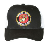 Shadow United State Marine Corps Logo Trucker Snapback Adjustable Hat