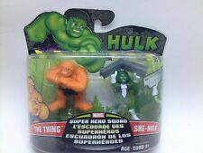 Marvel Super Hero Squad  The Thing and Green She Hulk (RARE!!!)