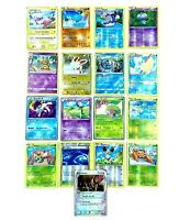 Lot de 17 cartes Pokémon Holo Reverse FR / JAP sans double