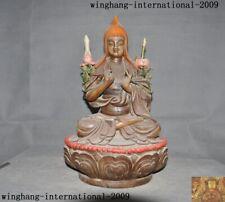 Tibet Buddhism pottery Wucai porcelain Tsongkhapa Master Shamanism Buddha Statue