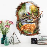 3D Landscape Wall Sticker Removable Vinyl Wallpaper for Room Living Room Decor