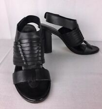 47370d422f Charles By Charles David Black Woven Leather Open Ankle Strap Toe Sandals  Sz 9