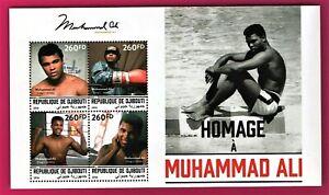 Djibouti - 2016 - Muhammad Ali  Souvenir Sheet  FOUR STAMPS 16 x 10 cm - MNH