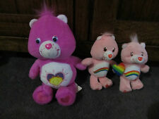 CAREBEARS...care bears..great lot of PINK bears...3 different