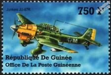 WWII Luftwaffe JUNKERS Ju-87 / Ju-87R STUKA Aircraft Stamp (2002 Guinea)